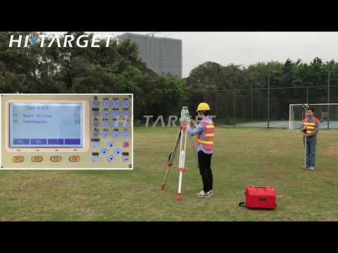 Hi Target Total Station HTS 420R Site Survey Demo and Introduction