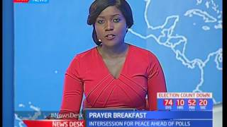 Kenyan leaders participate in National Prayer Breakfast as they pray for peace ahead of polls