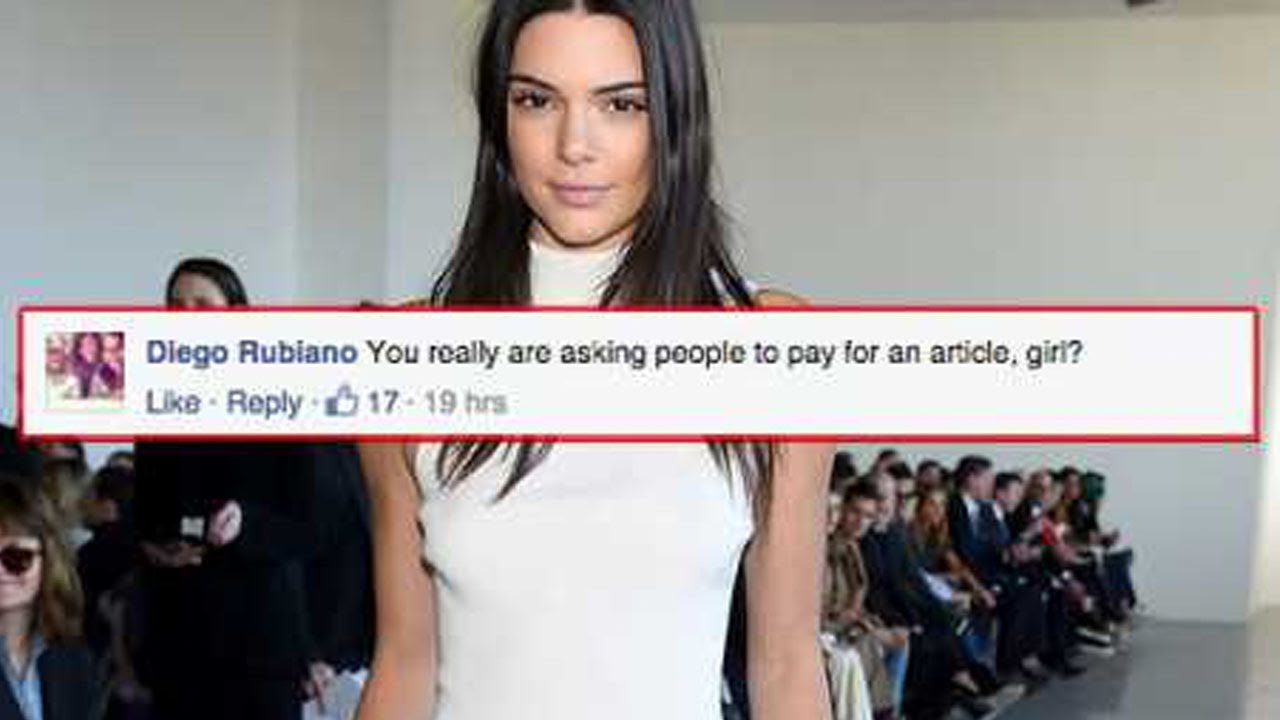 Fans Pissed About Kendall Jenner's Paywall thumbnail