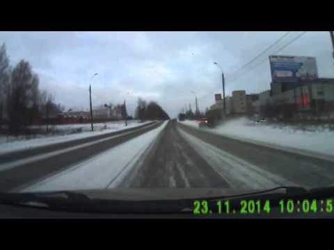 Авария с маршруткой в Ижевске 23 11 2014
