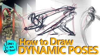 HOW TO DRAW ACTION POSES - A Process Tutorial
