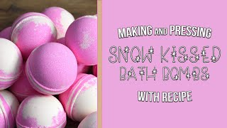Making Snow Kissed Bath Bombs - Recipe Included | MO River Soap