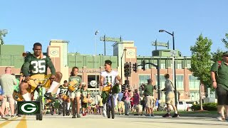 Heartwarming bike ride tradition at Packers training camp continues