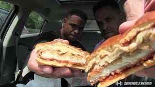 Eating Burger King Chicken Parmesan Sandwich @hodgetwins
