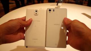 Au Galaxy Note 3 SCL22 Vs Xperia Z1 SOL22【外観比較】