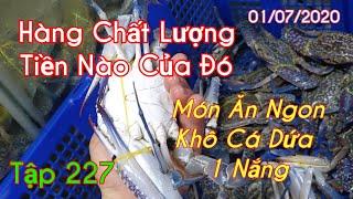 Chợ Bình Điền |Đi Mua Hải Sản Trả Giá Rất Vui, Thử Chất Lượng Khô Cá Dứa 1 Nắng | Ân 036.238.5669