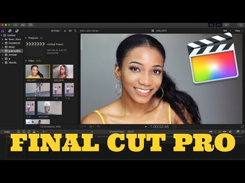 How to Edit your youtube videos with Final Cut Pro (easiest tutorial) | Annesha Adams