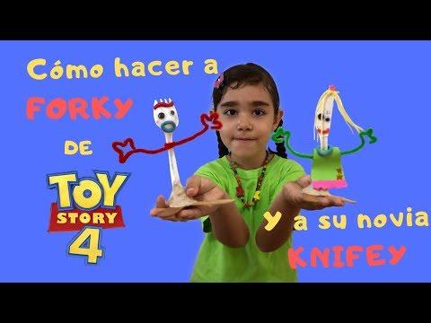 Cómo hacer a FORKY y su novia de TOY STORY 4 - Sari Sueña