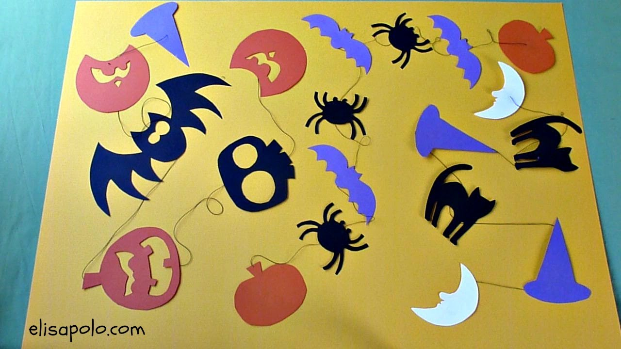 DIY. Cómo hacer una Guirnalda Halloween, Decoración Halloween, Halloween Garland.