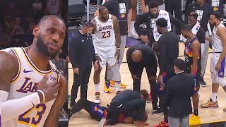 LeBron James Checks On Chris Paul After Injury & Devin Booker Takes Over! Lakers vs Suns Game 1
