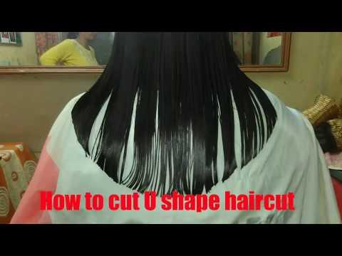 U shape haircut step by step