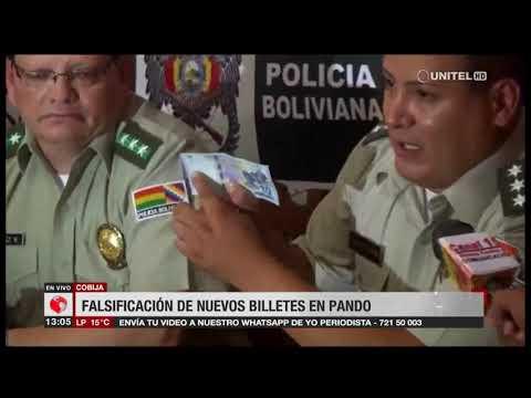FELCC de Pando advierte de existencia de billetes falsos de la nueva serie