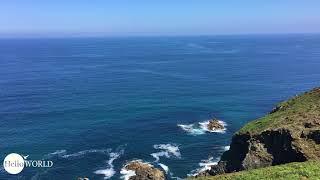Blick über die Küste an der Punta da Falcoeira
