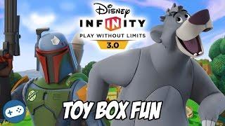 Boba Fett And Baloo Disney Infinity 3.0 Toy Box Fun Gameplay