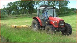 Massey Ferguson 4245 cutting with Tarup 204 mower HD