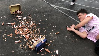 Falling With 10,000 Pennies!