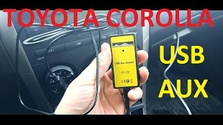 Toyota Corolla - Обзор USB AUX Adapter