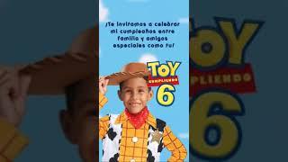 Invitación Temática «Toy Story»