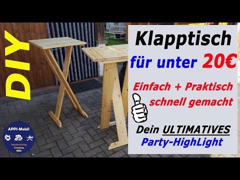 ❗Unter 20€❗Klapptisch I Stehtisch I Partytisch selber bauen I DIY I