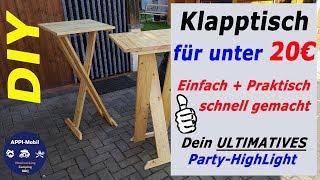Einfachen Klapptisch I Partytisch selber bauen