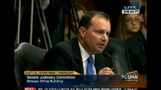 Senator Lee Questions Attorney General Eric Holder