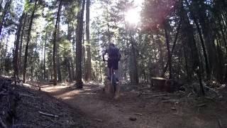 Log ride - on Scott's Flat Lake Trail