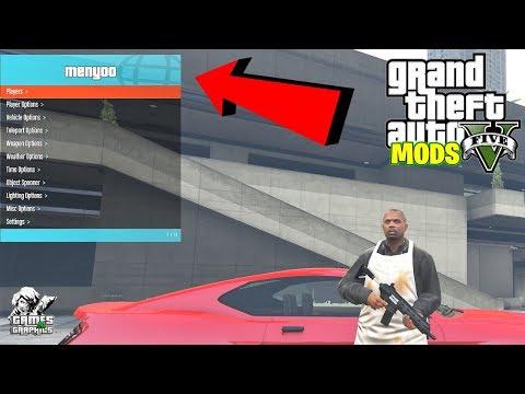 GTA V PC OFFLINE/ONLINE MENYOO MOD MENU TUTORIAL *best mod menu