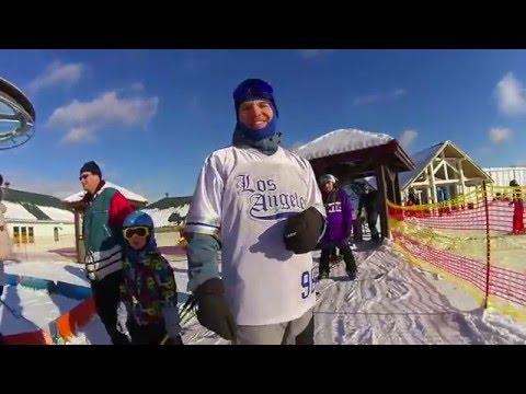 Видео: Видео горнолыжного курорта Снежный (Коробицыно) в Ленинградская область