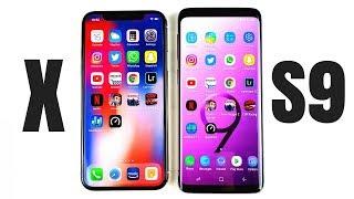 iPhone X vs Galaxy S9 Speed Test!