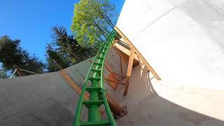 FPV drone + roller coaster