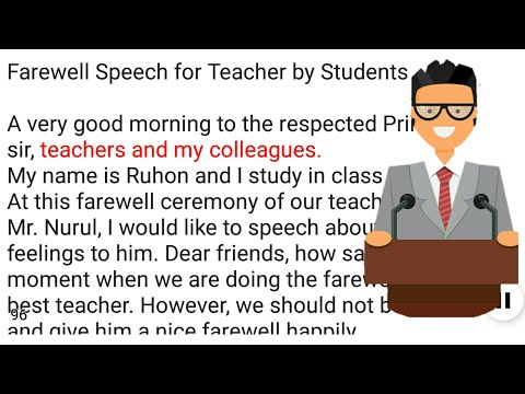 farewell speech teacher to students