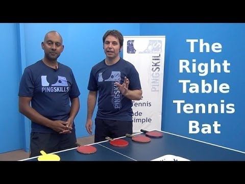 Choosing a Table Tennis Bat | PingSkills