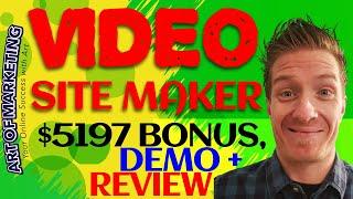Video Site Maker Review, Demo & $5197 Bonus, VideoSiteMaker Review