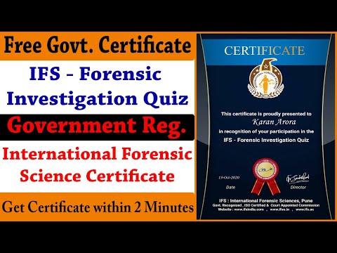 IFS - FREE International Forensic Science Certificate