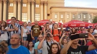 Реакция болельщиков на пенальти Россия & Испания 💞🔱Выход России на 1/4 финал.Fan Fest  Samara🔱