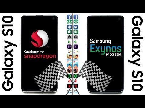 Galaxy S10 (Snapdragon) vs. Galaxy S10 (Exynos) Speed Test