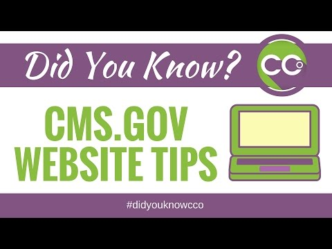Navigating the CMS.gov website- Did You Know CCO