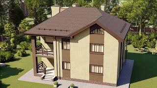 Проект дома 167-B, Площадь дома: 167 м2, Размер дома:  12,4x9,9 м