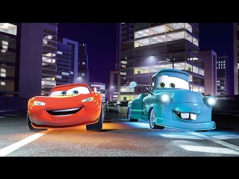 Disney Pixar Cars , The Screaming Banshee, Lightning McQueen, Mater And The Delinquent Road Hazards