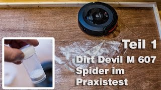 Teil 1-Saugroboter Dirt Devil M607 Spider Test