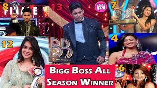 Bigg Boss Winners List of All Seasons 1 To 13 with Host name, Prize Money Big Boss All Season Winner