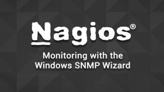 Monitoring with the Windows SNMP Wizard