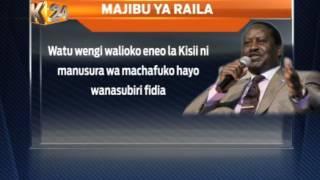 Odinga: Madai ya Rais kuhusu ghasia hayana msingi