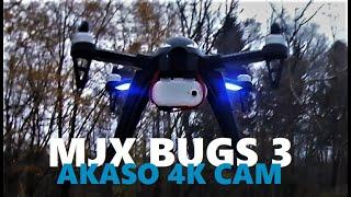 MJX Bugs 3 Akaso 4k Keychain Camera Low Light Drone Flight Testing Review