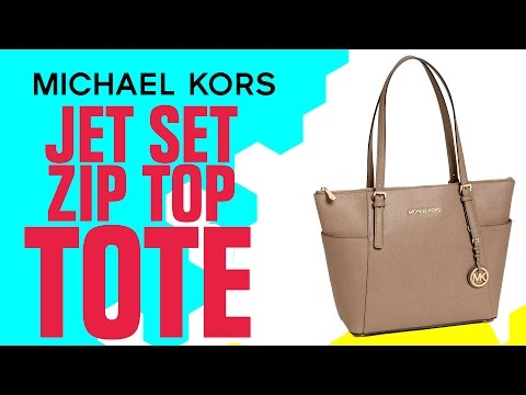 Micheal Kors Jet Set Zip Top Tote Review