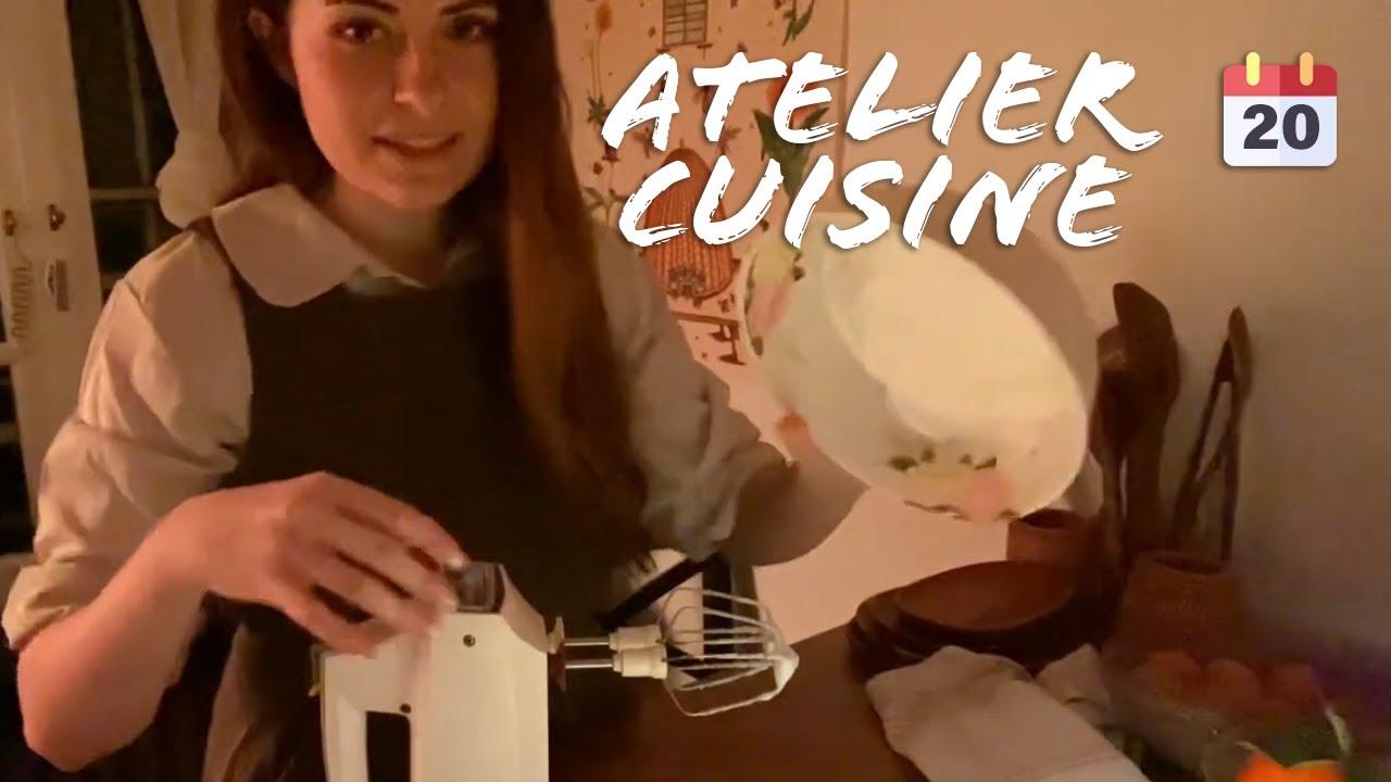 ASMR | Atelier cuisine 👩🍳 Je fais des petits biscuits.