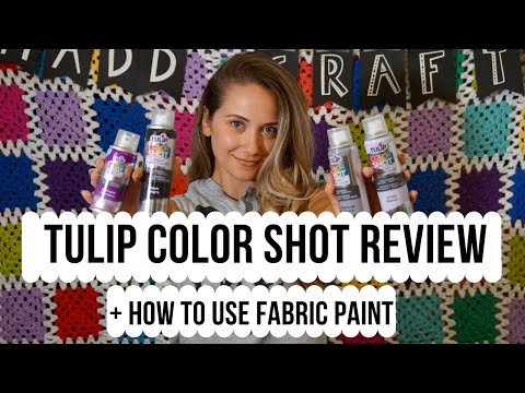 Fabric Paint || Tulip ColorShot Instant Fabric Color Spray REVIEW