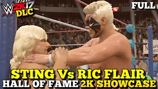 WWE 2K17 Hall of Fame DLC: Sting vs Ric Flair Full Showcase Mode (All Objectives Completed!)