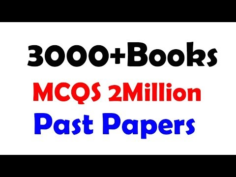 PDF Books, Past Papers, Notes, Sample Papers for FPSC, PPSC
