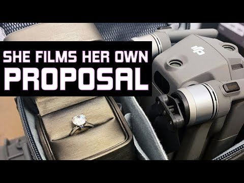 SHE SAID YES! (SHE FILMS HER OWN PROPOSAL)
